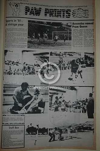 1980 - 1981 Paw Prints