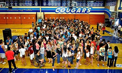 Norco High Class of 2012 Graduation Practice 5 30 2012